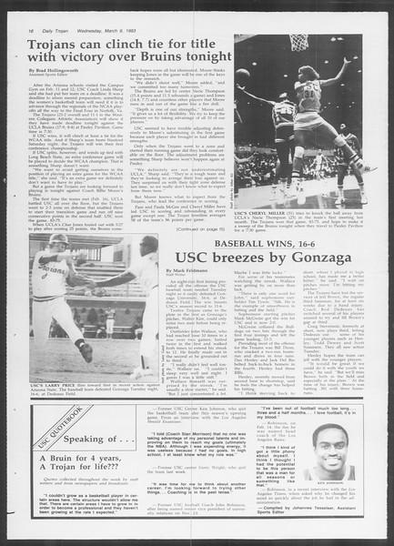 Daily Trojan, Vol. 93, No. 39, March 09, 1983