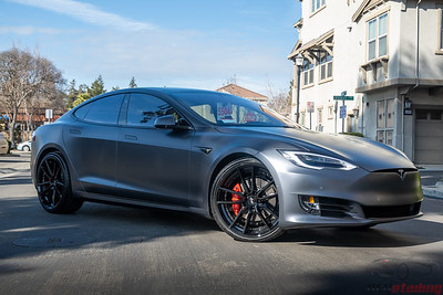 2020 Tesla Model S - Midnight Silver XPEL Stealth Wrap 2