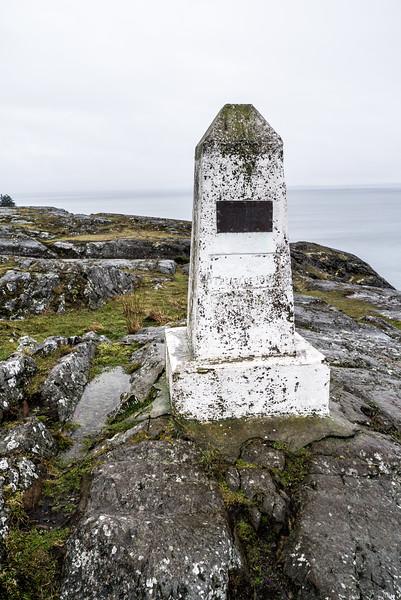 Treaty Marker at Iceberg Point