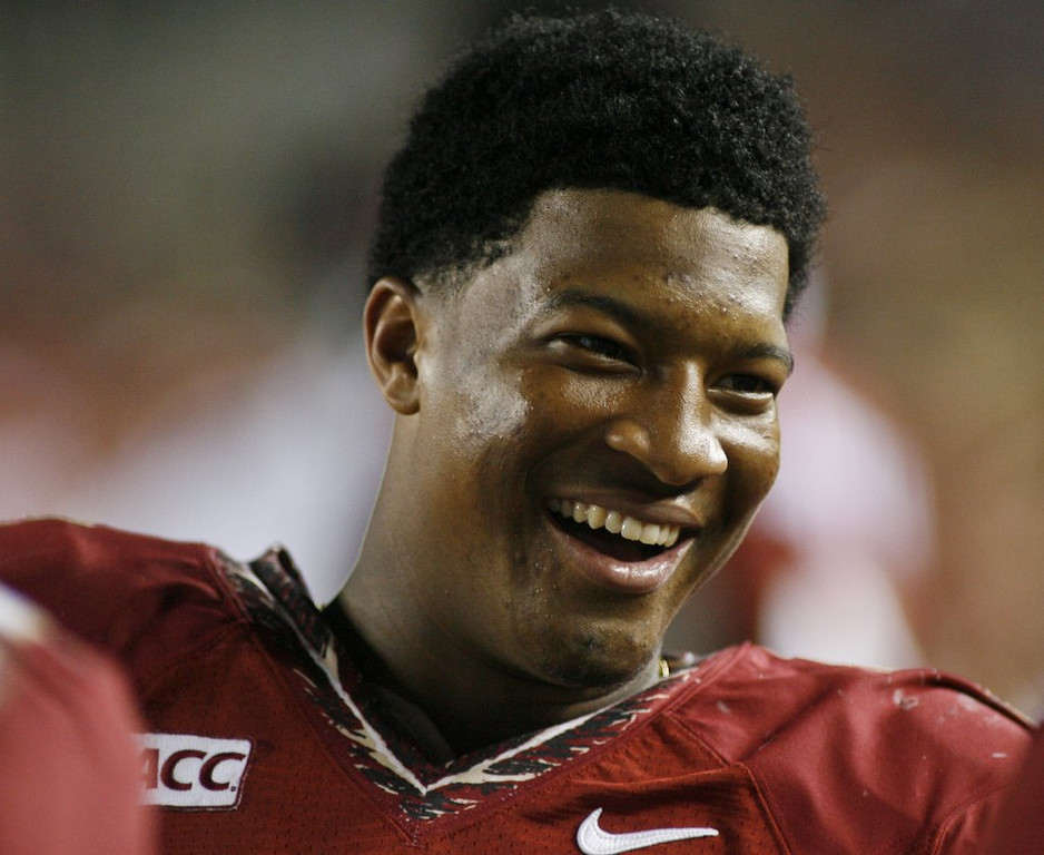 ". <p><b> Florida State freshman quarterback Jameis Winston got some great news this week when he learned he is one of six men who is � </b> <p> A. A finalist for the Heisman Trophy <p> B. Nominated for Sportsman of the Year <p> C. Linked by DNA to his accuser <p><b><a href=\'http://www.tmz.com/2013/12/05/jameis-winston-no-charges-rape-case/\' target=""_blank\"">HUH?</a></b> <p>    (AP Photo/Phil Sears)"