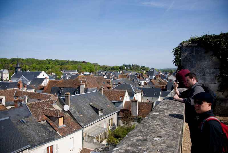The view of Loches from above.