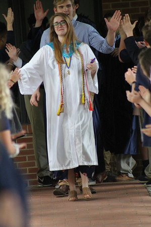 Senior Walk and Candle Passing
