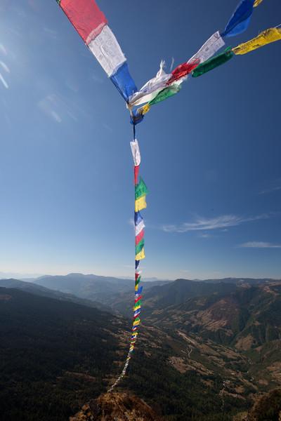 Trek above Chiwong Monastery. Solu, Nepal.