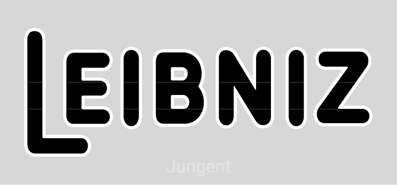 Leibniz black and white logo