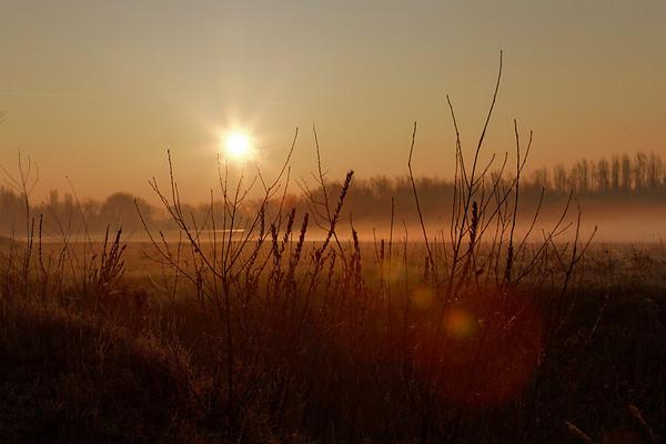 Lever de soleil en Loire