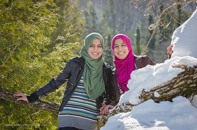 Winter shoot with Asilah and Mufidah