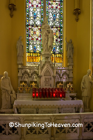 Church Statues and Stained Glass