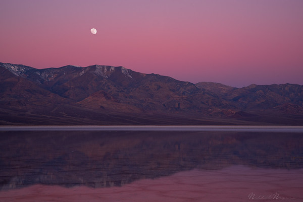 Badwater Moonset
