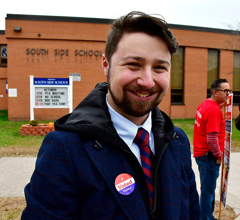 11/5/2019 Mike Orazzi | StaffrDante Tagariello while at the South Side School on election day in Bristol.