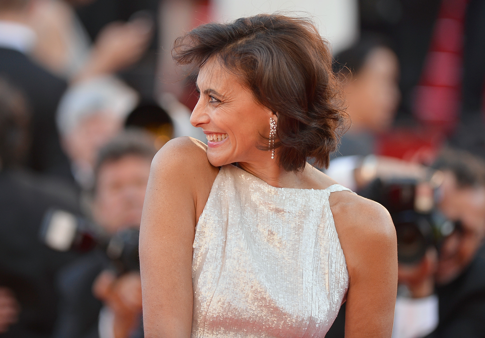 ". Ines de la Fressange attends the ""Mr Turner\"" premiere during the 67th Annual Cannes Film Festival on May 15, 2014 in Cannes, France.  (Photo by Pascal Le Segretain/Getty Images)"