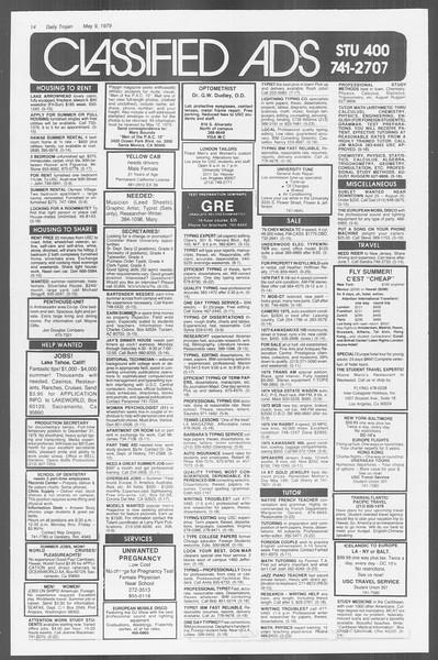 Daily Trojan, Vol. 76, No. 56, May 09, 1979