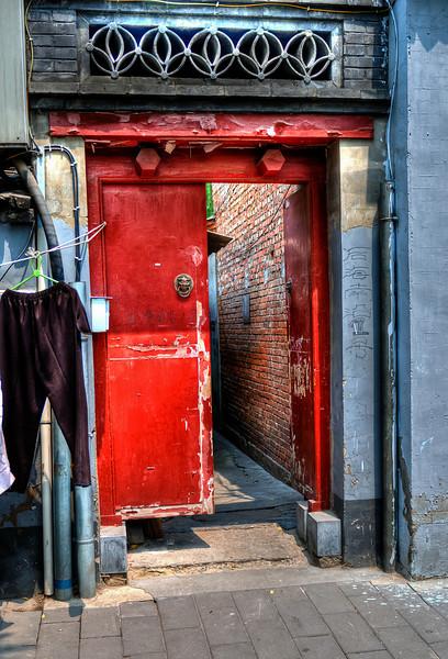 Beijing Hu Tong Red Door #8  http://sillymonkeyphoto.com/2011/05/09/beijing-hu-tong-red-door-8/