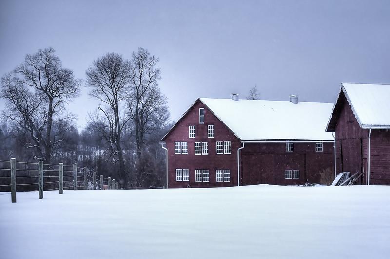 Snow - Dark Red Barns in Denver(p, 215).jpg