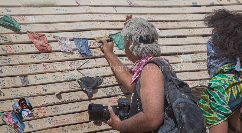 Writing Notes on the Temple of Promise~Burning Man 2015