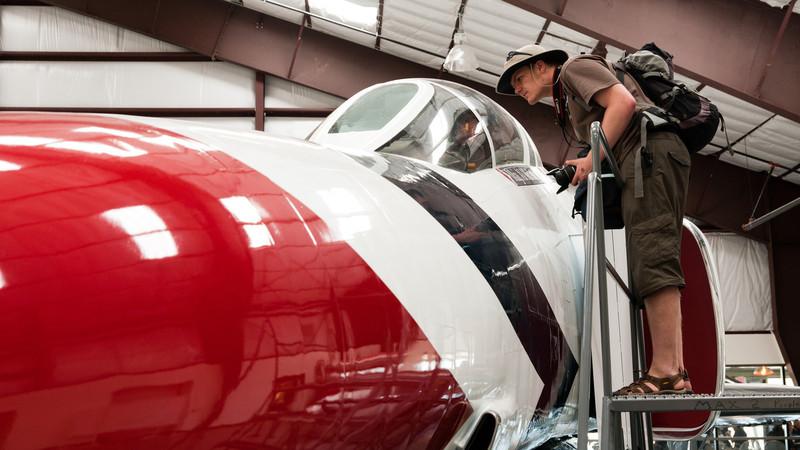Půl dne jsme strávili v Pima Air & Space Museum (http://www.pimaair.org/) a bylo to málo. Příště bych tam klepal na vrata půl hodiny před otevíračkou :-) F-4 Phantom (http://en.wikipedia.org/wiki/McDonnell_Douglas_F-4_Phantom_II)