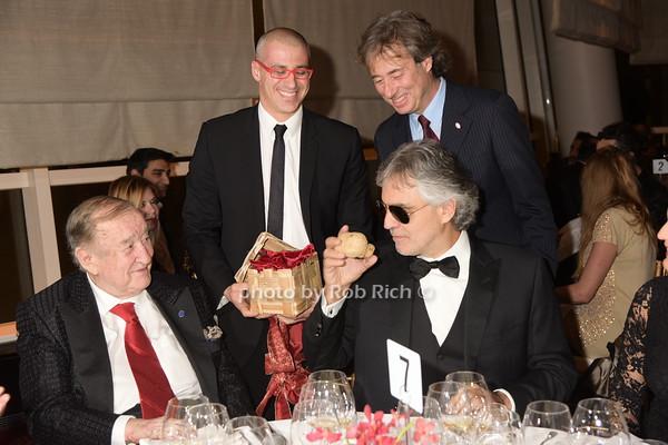 Sirio Maccioni, Vittorio Giordano, Marco Maccioni, and Andrea Bocelli   photo by Rob Rich/SocietyAllure.com © 2014 robwayne1@aol.com 516-676-3939