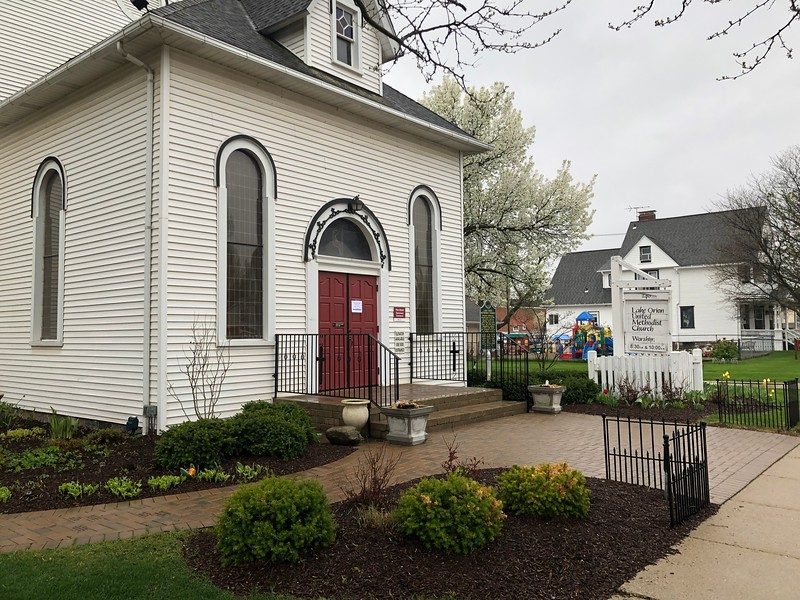 Lake Orion United Methodist Church in downtown Lake Orion. Stephen Frye / Digital First Media.