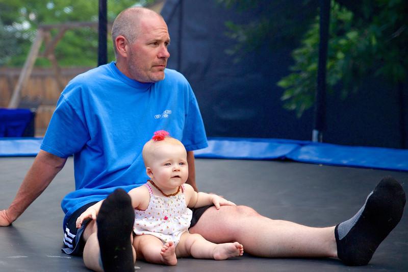 Makenzie Summer 2013, with Grandpa Mark