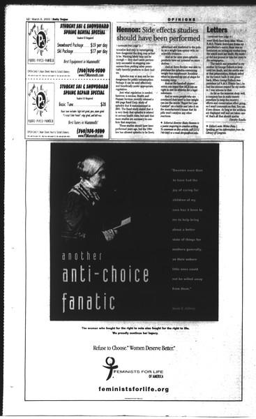Daily Trojan, Vol. 148, No. 34, March 06, 2003