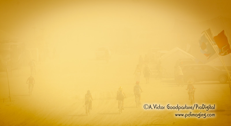 Dust storms can rise up in seconds and be gone just as fast. You never know so you're always prepared.