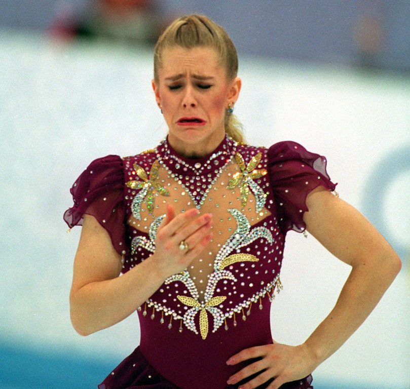 . <p><b> Olympic figure skater Tonya Harding got more bad news this week with the release of a XXX video that shows Tonya having sex with � </b> <p> A. Her ex-husband <p> B. Her coach <p> C. The 1977 Portland Trail Blazers <p>   (Chris Cole/Allsport)