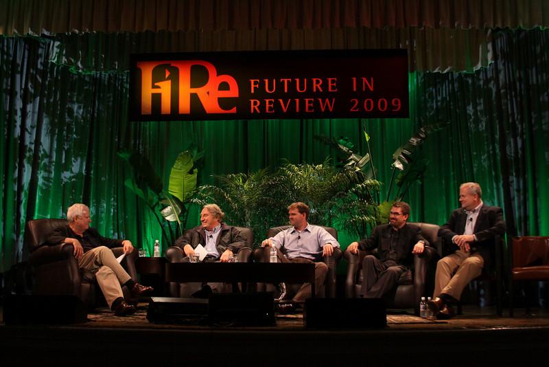 """Trends in Global Venture Investment"": (L-R) Host Rick LeFaivre, Venture Partner, OVP Venture Partners (Seattle); Roger Buckeridge, Director and Co-Founder, Allen & Buckeridge (Australia); Niall Davis, Partner, aeris CAPITAL AG (Zurich); Michael Pfeffer, Managing Partner, Kolohala Ventures (Hawaii); and Gary Rieschel, Qiming Venture Partners (Shanghai)"