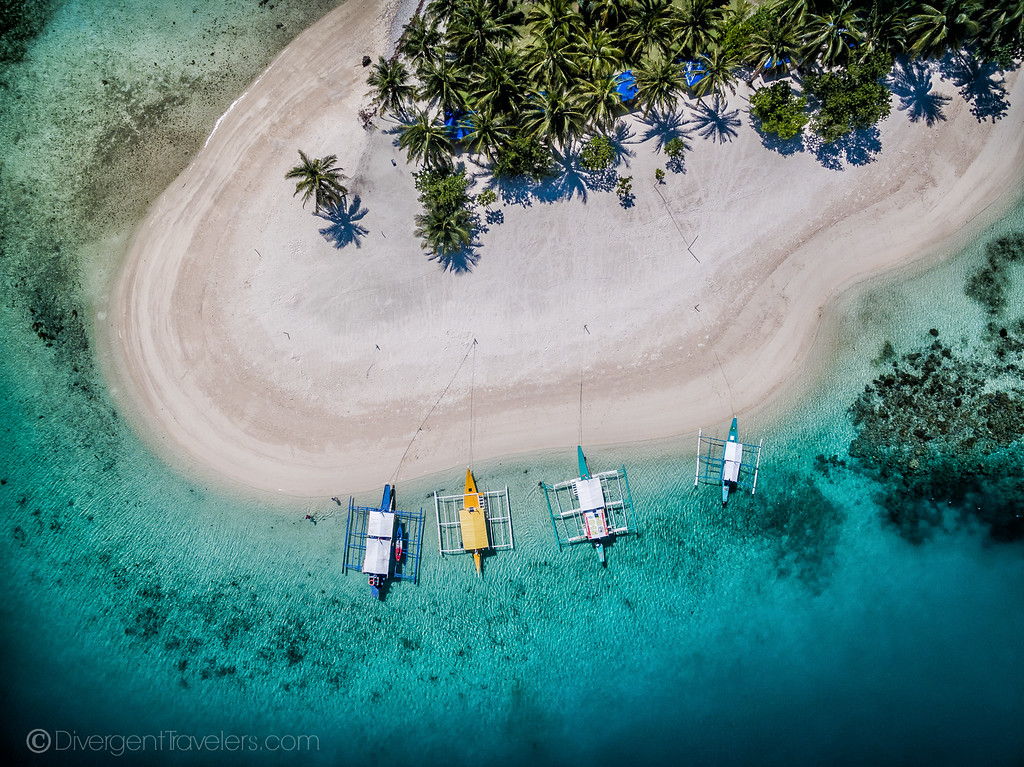 drone photo of an island in the Philippines