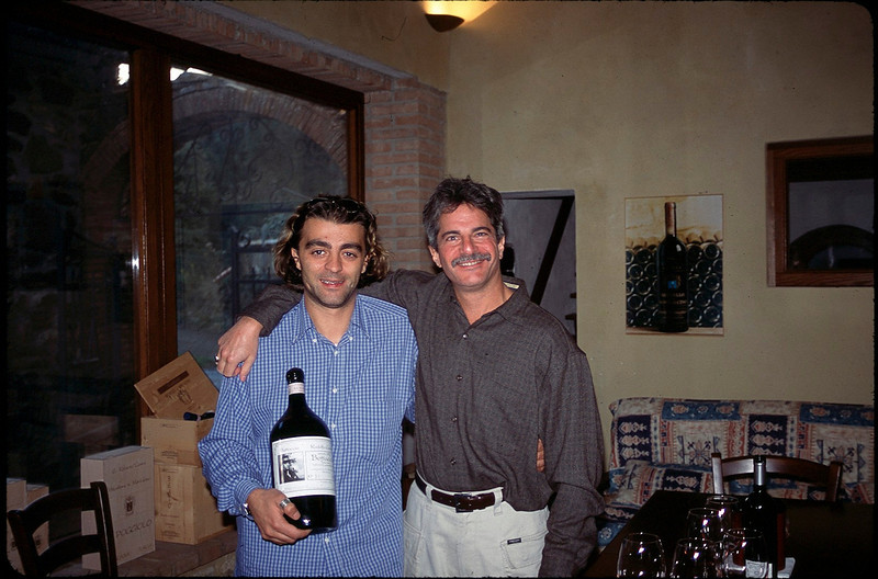 with Roberto Cosimi in Montalcino