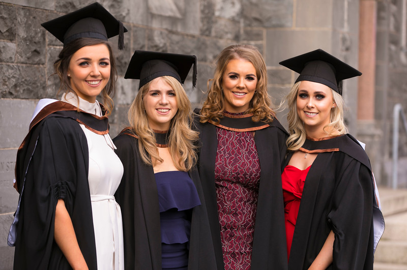 02/11/2017. Waterford Institute of Technology Conferring are Kate Power, Dunmore East, Marie Morrissey, Rathnure, Fiona Nolan, Kilkenny and Kelly Whelan, Adamstown. Picture: Patrick Browne.