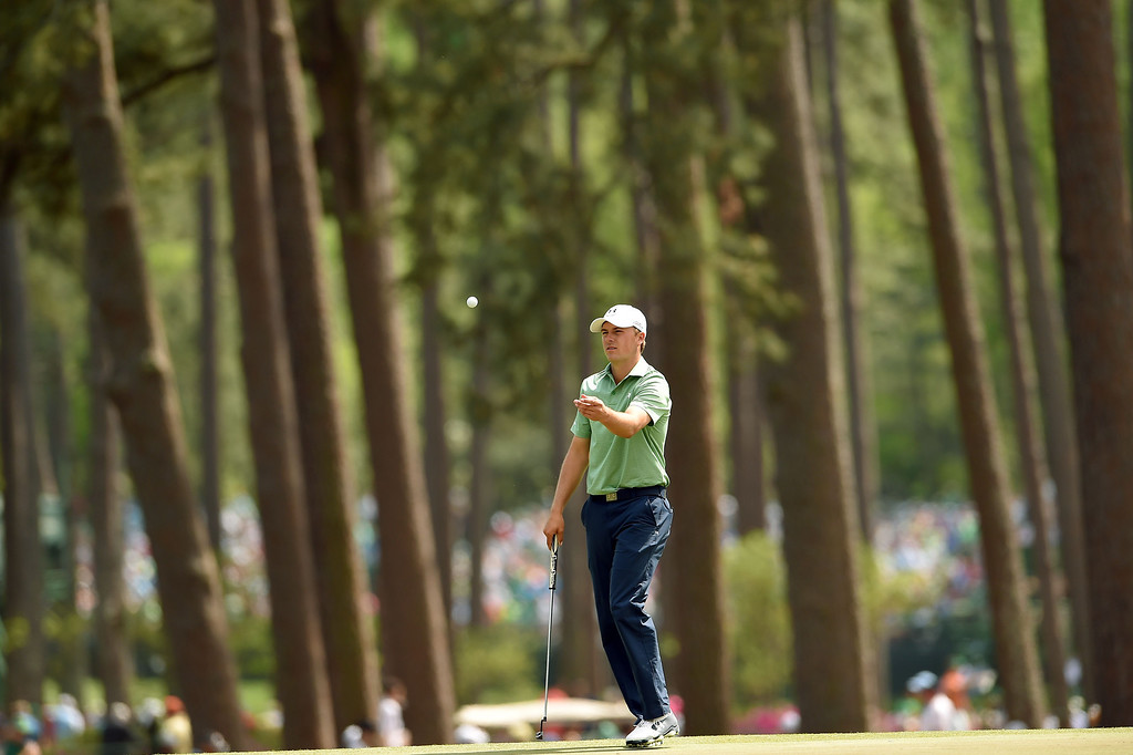 . Jordan Spieth of the US waits to putt on the third green during the final round of the 78th Masters Golf Tournament at Augusta National Golf Club on April 13, 2014 in Augusta, Georgia.    EMMANUEL DUNAND/AFP/Getty Images