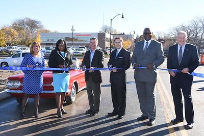 Mayor Warren opens Charlotte Street at Inner Loop Project. 11/4/2015