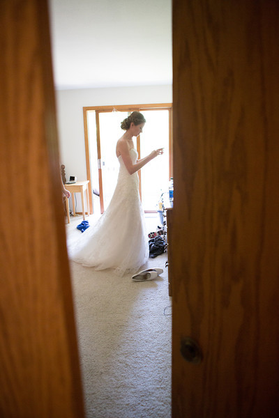 Preparations for a wedding at Old Stone Church and Williams Tree Farm in Rockton, Illinois. Wedding photographer - Ryan Davis Photography, Rockford, IL.