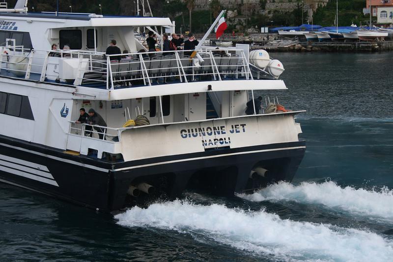 GIUNONE JET departing from Capri.