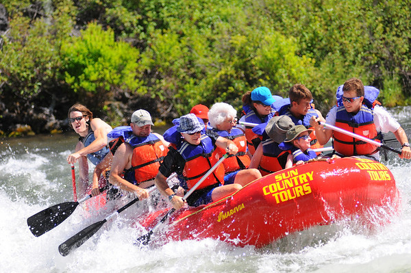 Rafting the Deschutes, Bend, OR