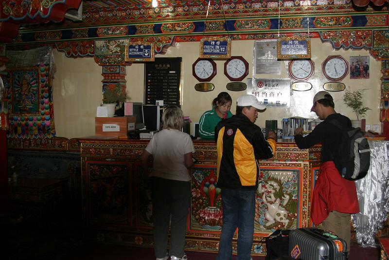 DhoodGu Hotel Lhasa Tibet, Qinghai -Beijing to Tibet Railway, Beijing to Lhasa  Oct  2006