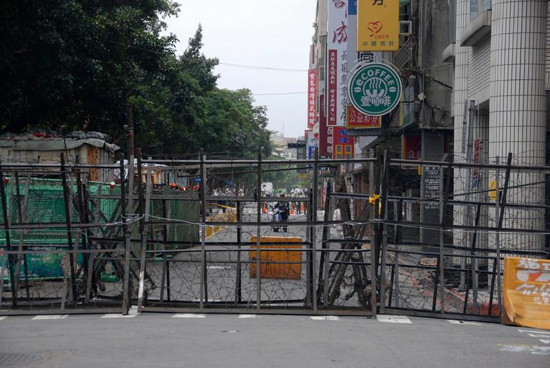 Road baracade on National Day Celebration - Taipei, Taiwan