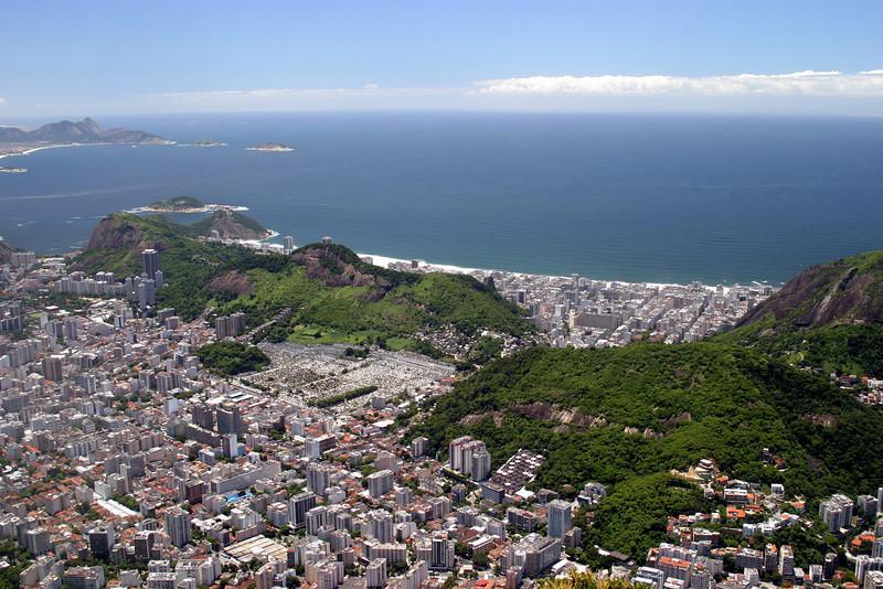 From the Corcovado, Copacabana beach 2004