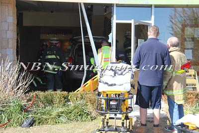 East Farmingdale Fire Co. Car Into Building w/ Entrapment & Medevac 965 Rt-110 at Panera Bread 3-19-15