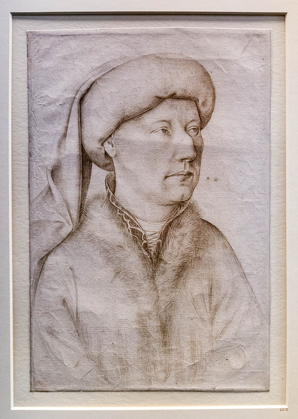 Jan van Eyck (Nachfolger): Porträt eines Mannes [1.H.15.Jh., Kupferstichkabinett Berlin]