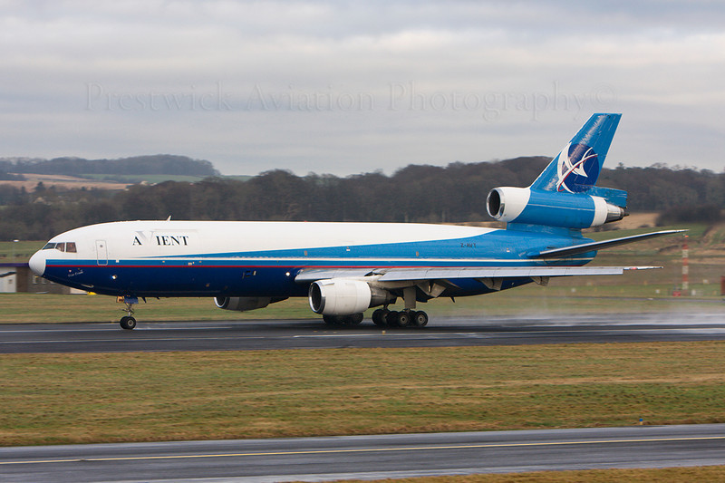 Z-AVT. McDonnell Douglas DC-10-30(F). Avient. Prestwick. 120108.