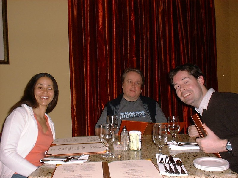 Paty, Rob and Ben_s dinner at the Embassy.JPG