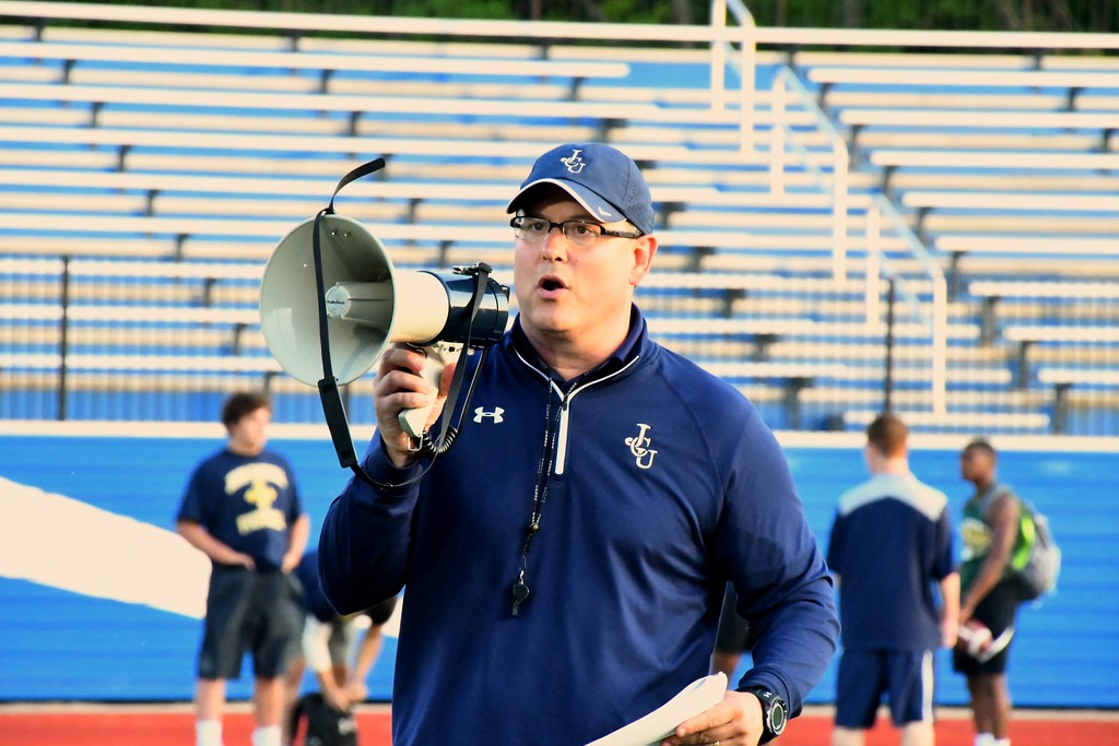 ". Brittany Chay - The News-Herald John Carroll hosted a Michigan satellite camp dubbed ""Light Up The End\"" on June 2 at Don Shula Stadium."