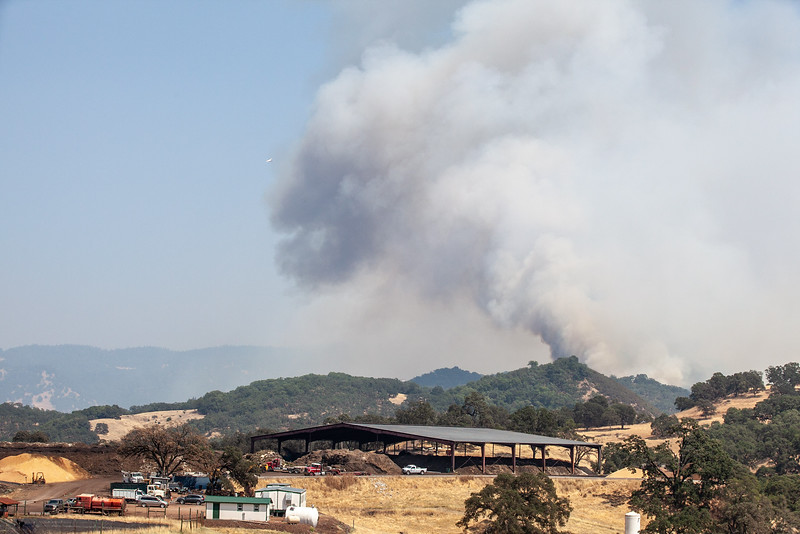 The east facing view of the Ranch Fire incident from the Cold Creek Compost facility in Potter Valley. Chris Pugh-Ukiah Daily Journal