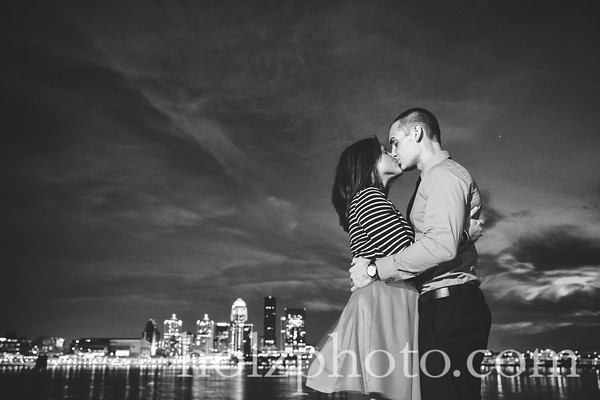 Bryana & Brandon B/W Engagement Photos