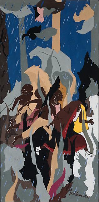 "Jacob Lawrence, ""Flight #1"" 1967"