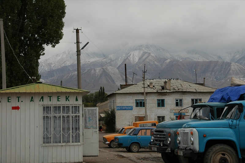 Mountains and Trucks - Kochkor, Kyrgyzstan