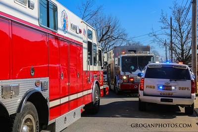 E Maple and N grove Car into house 2/6/17