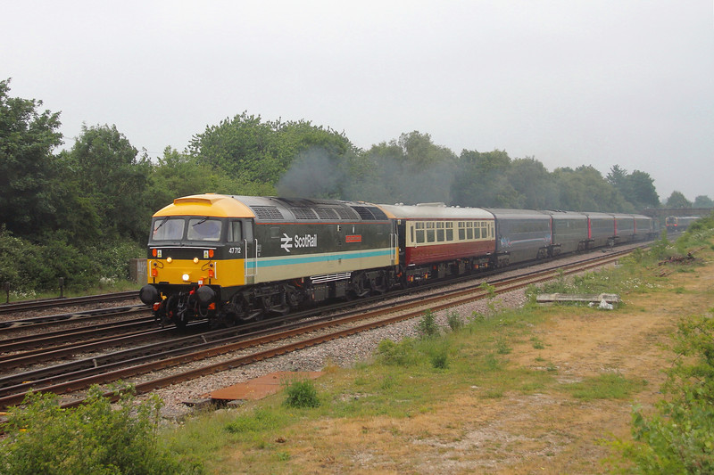 47712 Worting Junction 11/06/20 5Z36 Crewe Holding Sidings to Eastleigh with 43083 on the rear