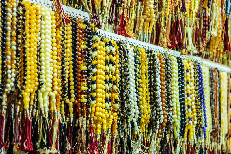 Prayer beads at Souk Al-Mubarakiya
