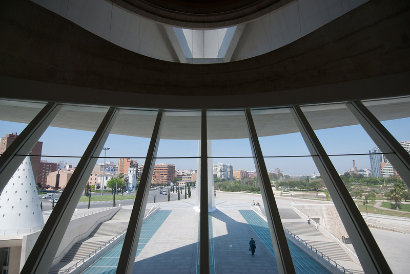 View from inside L'Agora in Valencia, Spain